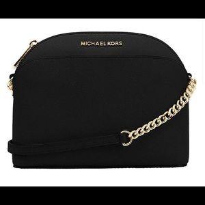 Michael Kors black dome crossbody